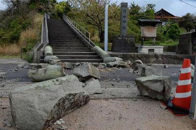 2018/4の地震の被害(大田市)