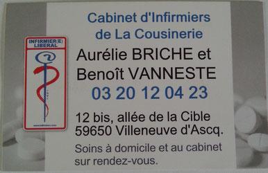 Infirmiere libérale Villeneuve d'Ascq Vanneste Briche, Infirmier Villeneuve d'ascq