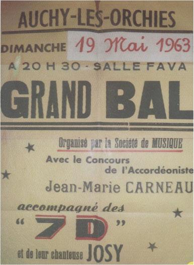 """Bal  dans la salle derrière la café """"Chez Fava""""."""