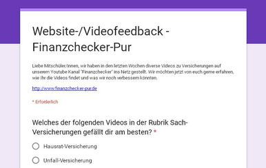 finanzchecker-pur.de: Online-Befragung