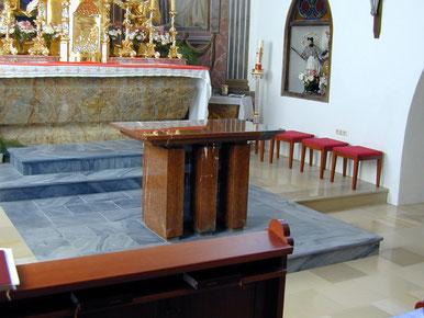 Kirche Zöbing nach Hochwasser