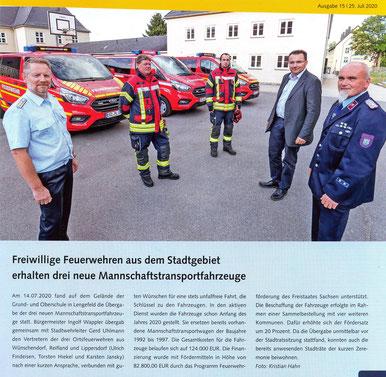 Bild: Wünschendorf Feuerwehr Übergabe