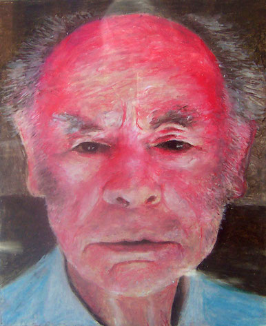 "15. Oil pastel - ""Francis Brabazon "" ; Courtesy of John Parry"