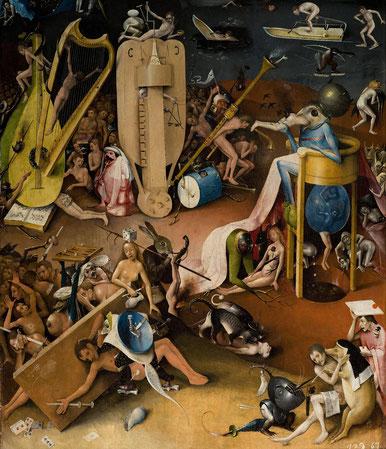 """Hieronymus Bosch, """"Trittico del Giardino delle Delizie"""", dettaglio (1480-90)"""