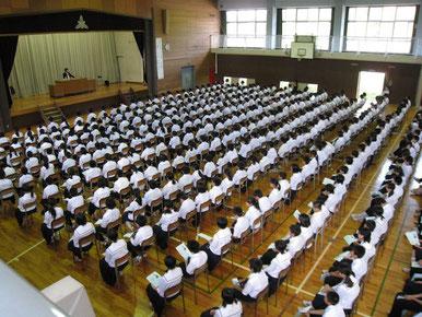 福島市立蓬萊中学校「教育講演会」