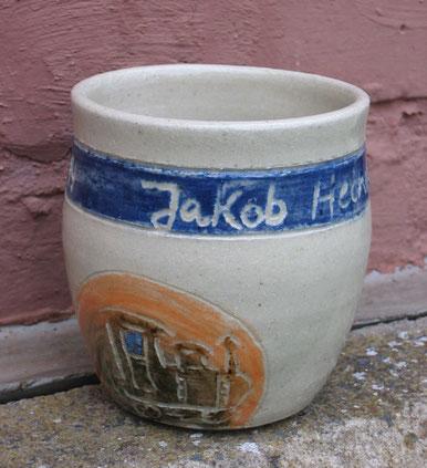 Keramik Tasse mit Namenszug