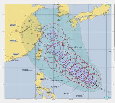 そして、台風25号♪ このままのコースでお願いします。