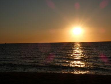 やっぱり夕日は癒されますね~