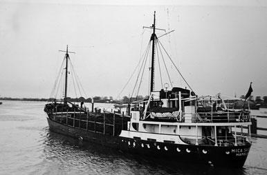 """Die """"Mica Sauber"""" mit Koks von Bremen nach Helsinki - Juni 1955"""