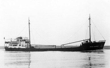 "Die ""Mica Sauber"" auf der Elbe - 1951"