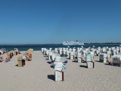plage au bord de la mer Baltique à Travemünde