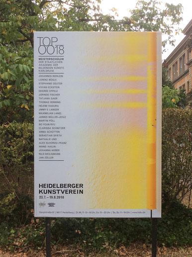 Meisterschüler Ausstellung, Heidelberger Kunstverein, 07 - 08. 2018