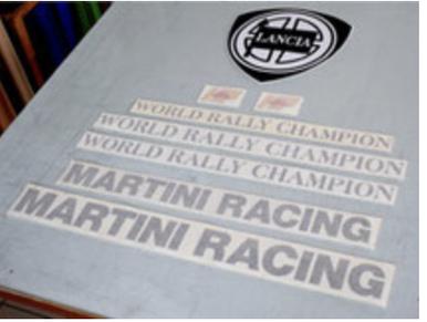 lancia delta martini 6 sponsor scritte adesivi sticker grafica kit completo pubblimais