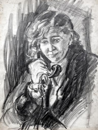 Erwin Bowien (1899-1972): Erna Heinen-Steinhoff beim Telefonieren, 1932