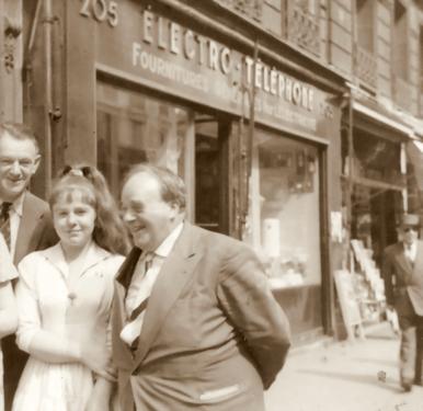 Bettina avec Erwin Bowien à Paris, 1958