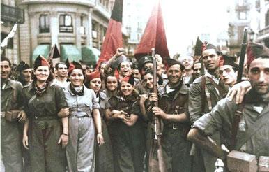 Anarkosyndikalistiske militsfolk i Barcelona