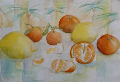 Früchte Aquarell 50x70cm
