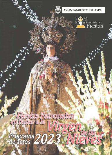 Cartel y programa de las Fiestas de Aspe 2015 Moros y Cristianos