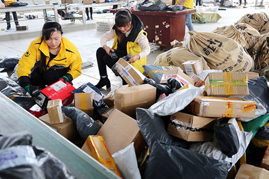 China Post delivered one hundred million packages a day in 2017