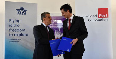 CEOs Alexandre de Juniac (left) and Holger Winkelbauer. Image courtesy of IPC