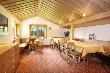 Aufenthaltsraum Gästehaus Claudia, Kleinwalsertal