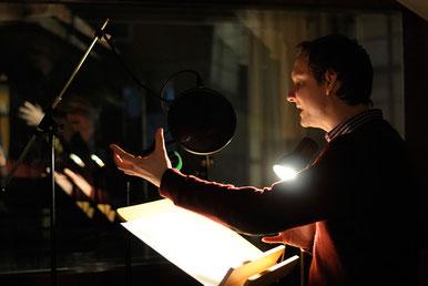 Sebastian Weber bei der Aufnahme