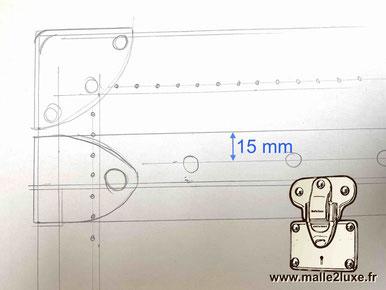 emplacement des clous secret de fabrication malle