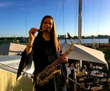 Saxophonistin Kristina Mohr Willkommenshöft Hamburg