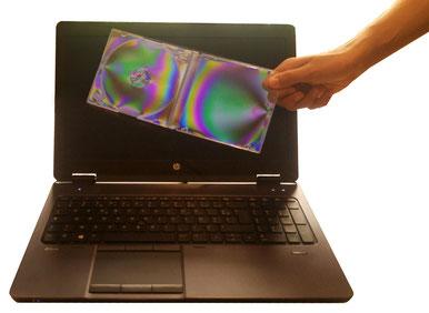 Polarisation écran visualisation de contraintes