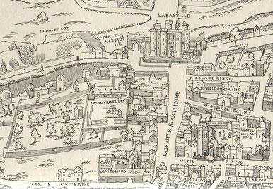 Hotel des tournelles vers 1550.Souce Wikipedia.Auteur Licorne.