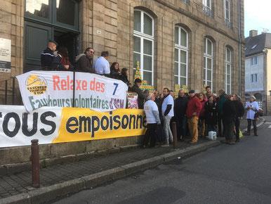 Procès des faucheurs à Guingamp
