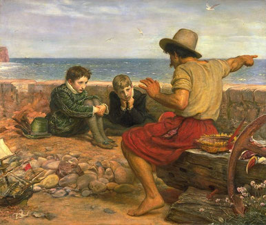 La infancia de sir Walter Raleigh. Sir John Everett Millais