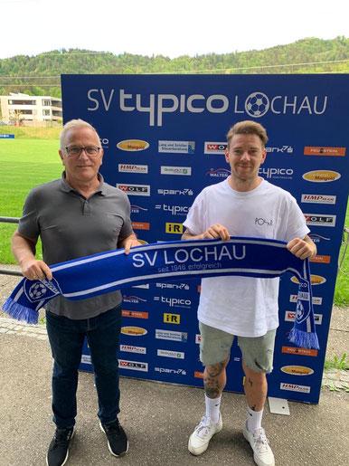 Stefan Maccani (r.) mit Neo-Cheftrainer Peter Sallmayer