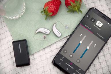 Hörgeräte lassen sich mit Handy und Mikrofon via Bluetooth verbinden