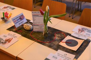 Kleinkaliberschützen Buttisholz - Organisator ZSV-DV 2019 - Tischdekoration