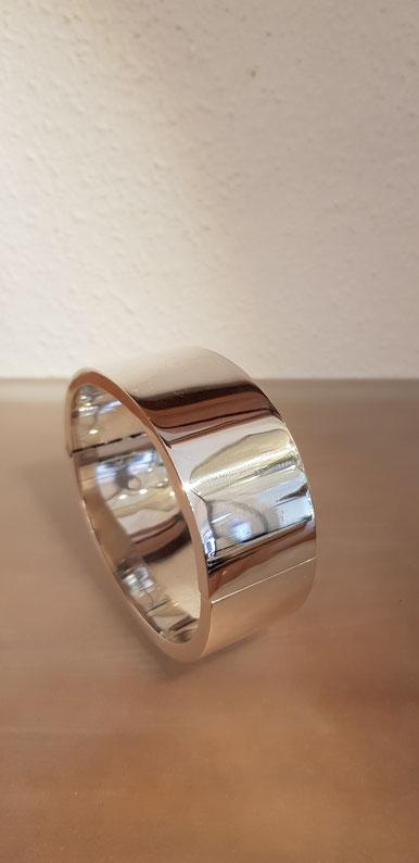 breiter Silberarmreif mit Scharnier aus Sterling Silber 925´er