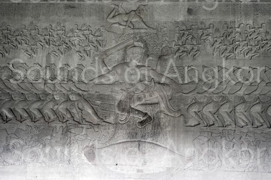 Angkor Wat. East Gallery. Churning of the sea of milk.