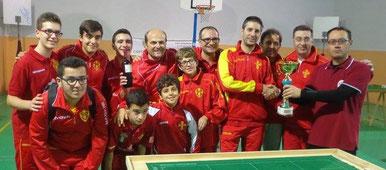 Tutto il Messina Table Soccer premiato come vincitore del torneo