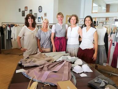 Ute Linck Borys (linckx.), Christine Milsmann (Style Icon), Tanja Pflaum (Ploom), Caroline Lauenstein (Die Rockmacherin) und Mercè Gay (Bayerinas)