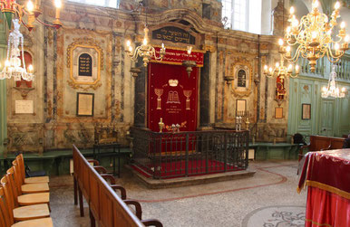 The inside of the  Carpentras Synagogue