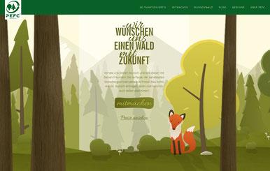 Pflanze jetzt Deinen Baum im Wald der Wünsche auf www.wunschwald.com. (Foto: PEFC)
