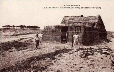 Les barracas, cabanes des pêcheurs du Roussillon