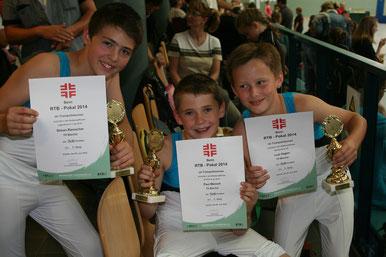 Siegertypen: Simon, Paul und Luis