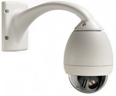 über SafeTech lieferbare PTZ-Dome Kameras für große Überwachungsflächen