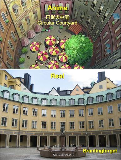 """魔女の宅急便、スウェーデン ガムラスタンの舞台 Gamla Stan, Stockholm, Sweden on the Ghibli """"Kiki's Delivery Service"""""""