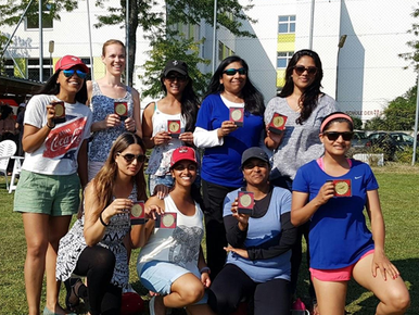 Switzerland's womens cricket medal winners 2017