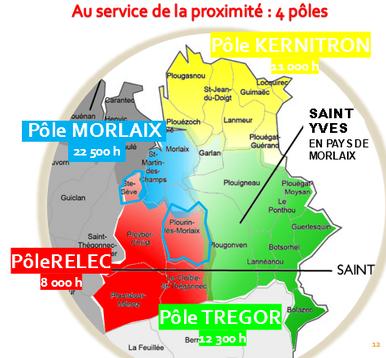 """A noter : dans la nouvelle configuration de la paroisse, Ste Sève et Plourin """"côté montagnes"""", rejoignent le Pôle Relec, alors qu'ils étaient auparavant intégrés dans l'ensemble paroissial de ND du Mur (Morlaix)."""