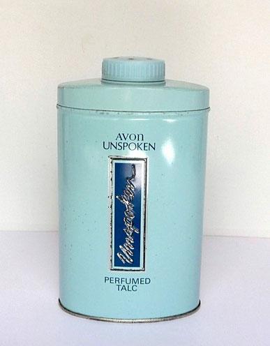 ANNEE 1960/1966 : TALC  PARFUME UNPOSKEN, 200 GRS