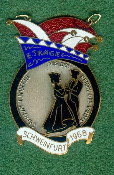 ESKAGE Schweinfurt 1968 Prinzenpaar Helmut I. und Nanny I. aus dem Reich des Tanzes