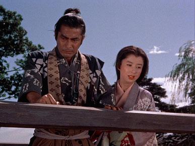 """Film (1954) """"Samurai, the Legend of Musashi"""" de Hiroshi Inagaki (Musashi et Ōtsu)"""